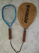 New listing Vtg Ektelon Racquetball Racquets Jennifer Harding Blue Leather Made in U.S.A