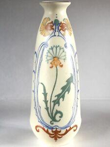 small Arnhem Nieuwe Kunst Jugendstil Gouda pottery vase Netherlands c 1910