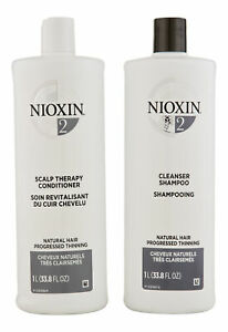 Nioxin System 2 Cleanser & Scalp Therapy Conditioner 33.8 oz. Hair Care Set