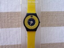 Swatch Skin Amarillo Yellow/blue vintage 1996/1997 New In Case, new battery