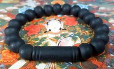 Buddha MALA BEADS Blessed ALL BLACK BRACELET REAL LEK NAM PEE THAI MAGIC STEEL