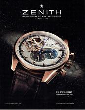 Publicité Advertising 018  2011  montre El Primero chronomaster Zenith