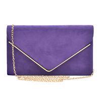 New Women Dasein Velvety Evening Clutch Purse Bag Wallet w Removable Chain Strap