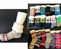 New 3 Pairs Ladys Thick Fur Bed Socks Womens Soft Fluffy Home Sock Non Slip BULK