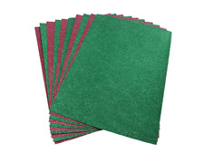 A4 RED & GREEN GLITTER CARD NO SHED X 10 SHEETS