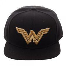 061d6adb533 OFFICIAL DC COMICS - JUSTICE LEAGUE WONDER WOMAN SYMBOL BLACK SNAPBACK CAP  (NEW)