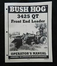 Bush Hog 3425 Qt Tractor Front Loader Owners Operators Manual Very Good Shape
