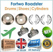 For Smart Fortwo Roadster Rear Brake Drums Shoes Cylinders New O.E Quality