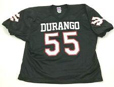 VINTAGE Rawlings Durango Football Jersey Size Extra Large XL Black Shirt 80s USA
