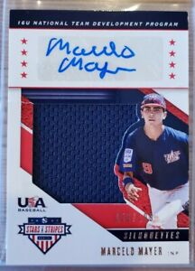 *Damaged* Marcelo Mayer 2019 Stars and Stripes Team USA Auto Relic #/199