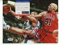 DENNIS RODMAN - CHICAGO BULLS  - NBA - PSA DNA COA - SIGNED AUTOGRAPHED A438