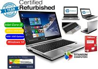 "HP Elitebook 2570p 12.5"" Core i5 2.5GHz 16GB Ram, 1TB HDD SSD Options Windows 10"