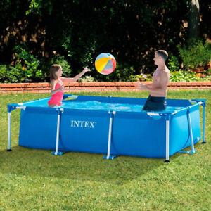 Intex Rectangular Frame Pool Swimmingpool versch. Größen Planschbecken