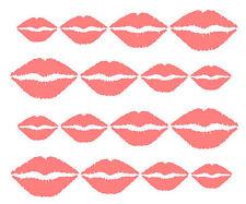16 lips car stickers