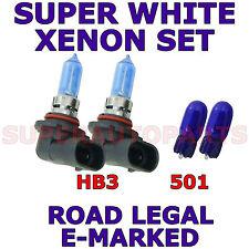FITS VOLVO S40 2004-ON  SET HB3  501  XENON  SUPER WHITE LIGHT BULBS