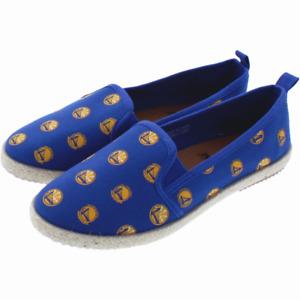 NBA Golden State Warriors Logo Women's Canvas Espadrille Slip On Flat Shoes