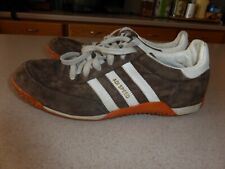 designer fashion 7db0f ad7f9 Adidas Adi Speed Mens Brown  Gold Suede Shoes Sneakers sz 10.5D