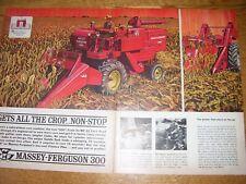 Vintage Massey Ferguson Advertising Pages - Mf 300 Combine & 62 Picker