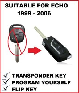 Remote Car Key Suitable for Toyota Echo 1998 2001 2002 2003 2004 2005 2006