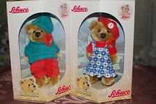 Schuco Bearli Mama Mommy and Papa Daddy Bear Collectible Mohair 2 Bears NIB
