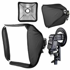 "60cm 24"" Portable Foldable Lighting Flash Speedlite Softbox + Diffuser & Bracket"