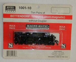 Micro Trains N Scale - Bettendorf Trucks without Coupler  - 10 Pair