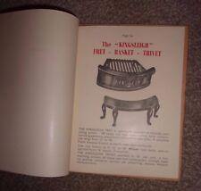 Fireplace Castings. Catalgoue & Price List. Birmingham Steel Co.Ltd 1952