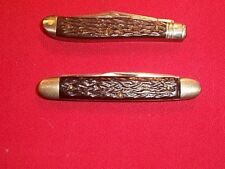 Two Vintage Camillus Knife Co. Small Peanut & Pen Type Pocket Knives Knife