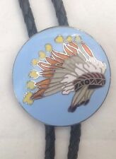Native American War Bonnet Style  Bolo Tie Vintage Classic American Boot Lace