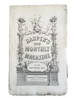 MARK TWAIN'S 1ST APPEARANCE IN DECEMBER 1866 HARPER'S MONTHLY MAGAZINE IN WRAPS