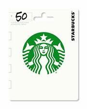 $50 Starbucks Coffee Gift Card - Fast Same Day Shipping