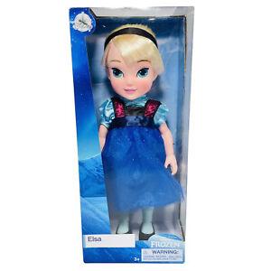 "Disney Princess Elsa Frozen Blue Glitter Dress 15"" Tall Doll Ages3+ New & Sealed"