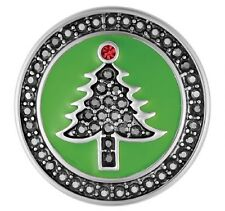 BUY 4, GET 5TH $6.95 SNAP FREE GINGER SNAP JEWELRY GREEN HEMATITE TREE SN19-31