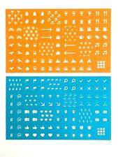 Bright Moleskine Sticker Set - 2 Sheets, 162 Stickers - Office, School Supplies