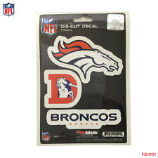 New NFL Denver Broncos Team ProMark Die-Cut Decal Stickers 3-Pack