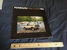 1980 PLYMOUTH TRAIL DUSTER 4X4 SUV COLOR BROCHURE CATALOG PROSPEKT