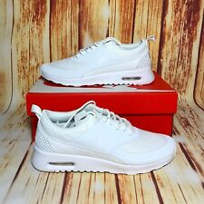 Nike Air Max Thea Womens 599409-104 White Textile Running Shoes Wmns Size 8