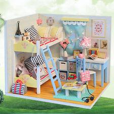 Handmade Miniature Doll House Realistic 3D DIY Wood Dollhouse Furniture Kit Gift