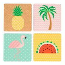 Sass & Belle Set of 4 Tropical Summer Coasters