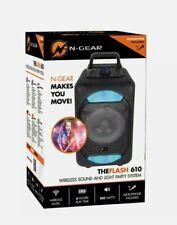 N-Gear TF-610 Bluetooth KARAOKE Lautsprecher Party Box Speaker 100W sing TROLLEY
