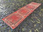Runner rug, Turkish rug, Vintage rug, Handmade rug, Wool rug   2,5 x 9,8 ft
