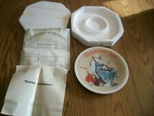 Norman Rockwell 1998 Christmas Collector Plate Santa'S Helper Knowles