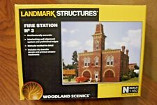 WOODLAND SCENICS LANDMARK STRUCTURES FIRE STATION #3 N SCALE BUILDING KIT