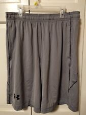 Men's Under Armour Active Loose Fit Gray Shorts-NWT-Free Shipping