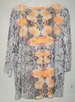 Women's 3/4 Sleeve Shirt by Style & Company size 2X flowers embellished