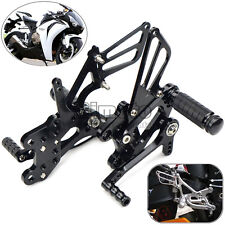 Black CNC Rearsets Rear Sets For Honda CBR600RR 2003-2006 CBR1000RR 2004-2007