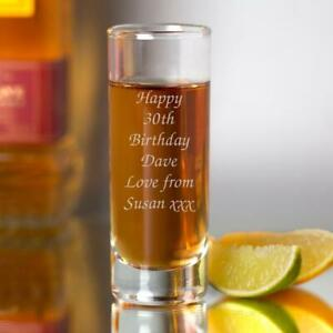 Personalised Engraved Any Message Shot Glass Stag Dos Birthday Christmas