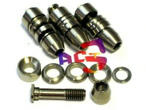 Titanium / Ti Mtn / Road Brake V-Brake Pad Bolt, Nut, Washer Set - Front & Rear
