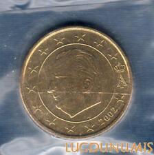 Belgique 2002 50 centimes d'euro FDC provenant coffret BU 100000 exemplaires Bel