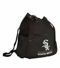 *NEW MLB Chicago White Sox Sport Pack Cinch String Carry Bag Backpack Black